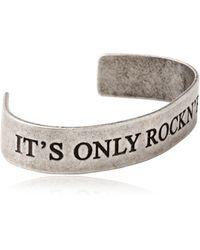 John Richmond - It'S Only Rock N' Roll Cuff Bracelet - Lyst