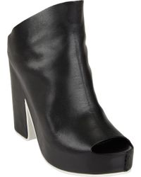 Balenciaga Extended-Vamp Platform Sandals - Lyst