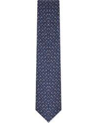 Lanvin Bracelet Silk Tie Navy - Lyst