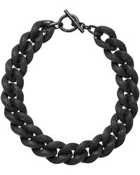 Michael Kors - Curbchain Pave Toggle Necklace - Lyst