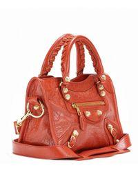 Balenciaga Giant 12 Mini City Leather Tote - Lyst