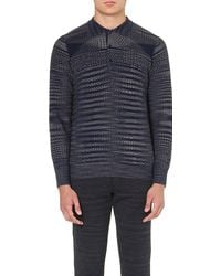 Missoni Abstract-knit Polo Shirt - Lyst