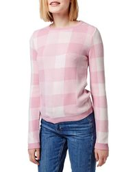 Topshop | Gingham Check Sweater | Lyst