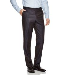 Eidos Solaro Striped Regular Fit Trousers - Brown