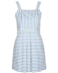 Topshop Stripe Pinny Sundress - Lyst