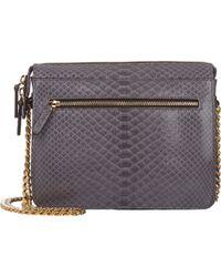 Zagliani Python Liberty Shoulder Bag animal - Lyst