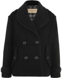 Burberry Brit - Wool-blend Peacoat - Lyst