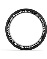 David Yurman Streamline Narrow Band Ring with Black Diamonds and Black Titanium - Lyst