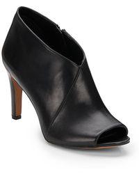 Franco Sarto Tiff Leather Peep-Toe Booties - Lyst