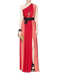 Lanvin Colourblock Silk Crepe Gown - Lyst