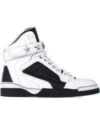 "Givenchy Leather Black And White ""Tyson"" Sneakers black - Lyst"
