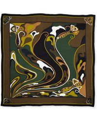 Emilio Pucci Orchidee Show Square Scarf - Lyst