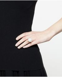 Maria Stern - Sterling Silver And Pearl Ring - Lyst