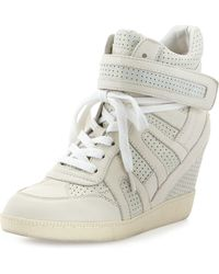 Ash Beck Bis Shimmer Combo Leather Wedge Sneaker - Lyst