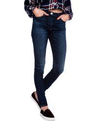 3x1 W2 Midrise Straight Leg Jean blue - Lyst