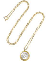 Munnu - 22-Karat Gold Diamond Necklace - Lyst