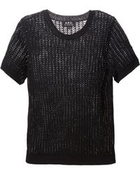 A.P.C. Ribbed Perforated Top - Lyst