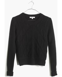 Madewell Chevron Crop Sweater - Lyst