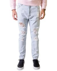 Palm Angels | Light Wash Denim Ripped Jeans | Lyst