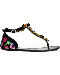 Asos Fly Me To The Moon Flat Sandals - Lyst