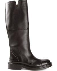 Agnona Chunky Knee High Boots - Black