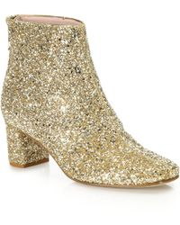 Kate Spade | Glitter-coated Booties | Lyst
