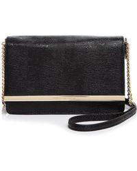 Diane von Furstenberg | Soirée Patent Lizard-embossed Shoulder Bag | Lyst