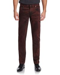 Dolce & Gabbana Stone Washed Cotton Jeans - Lyst