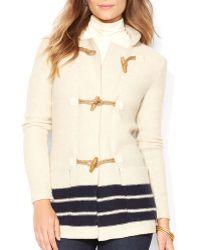 Ralph Lauren Lauren Toggle Front Jacket - Lyst
