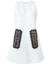 Giamba Jacquard Print Embroidered Dress - Lyst