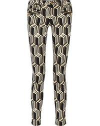 Genetic X Liberty Ross Metallic Midrise Jacquard Skinny Jeans - Lyst