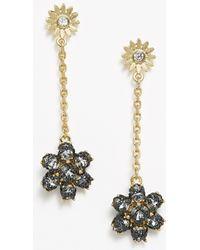 Ann Taylor Winter Garden Drop Earrings - Lyst