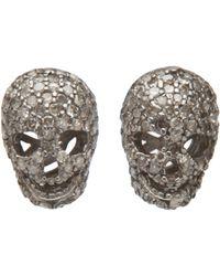 Ocnarf Sairutsa - Diamond Skull Earring - Lyst