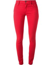 Burberry Brit Red Skinny Jeans - Lyst