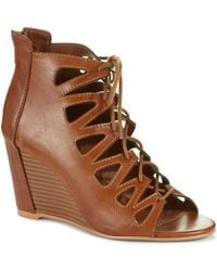 MIA - Madelynn Wedge Booties - Lyst