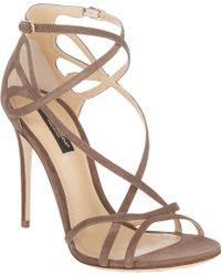 Dolce & Gabbana Cutout Crisscrossstraps Keira Sandals - Lyst