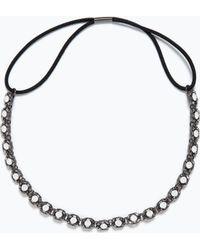 Zara Crystal Stretch Hairband black - Lyst