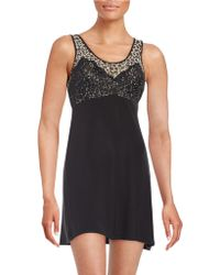 Jessica Simpson Only You Lace-accented Chemise - Black