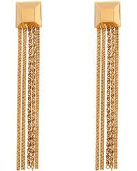 Diane von Furstenberg - Tassel Gold-Plated Earings - Lyst