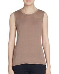 Elie Tahari Kemper Cotton  Silk Knit Top - Lyst