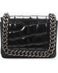 Zara Croc Mini Chain Bag - Lyst