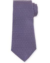 John Varvatos - Geometric-print Silk Tie - Lyst