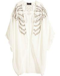 H&M Sequin-Embroidered Kimono - Lyst