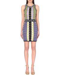 Versace Multicolor Knit Dress - Lyst