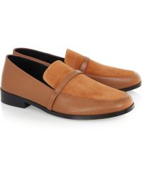 Newbark Melanie Leather And Suede Loafers - Lyst
