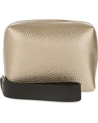 Brunello Cucinelli - Metallic Leather Cube Bag - Lyst