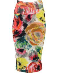 Fuzzi Floral Print Skirt - Multicolour