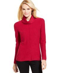 Calvin Klein Jeans Long-Sleeve Cowl-Neck Sweater - Lyst