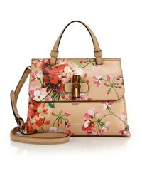 Gucci | Bamboo Daily Blooms Top-handle Bag | Lyst