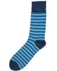 John Smedley Ethan Striped Cotton-blend Socks - Lyst